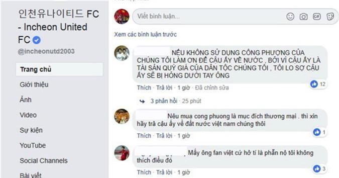 Báo Hàn Quốc phản ứng bất ngờ khi CĐV Việt làm loạn fanpage Incheon United vì Công Phượng - Ảnh 2.