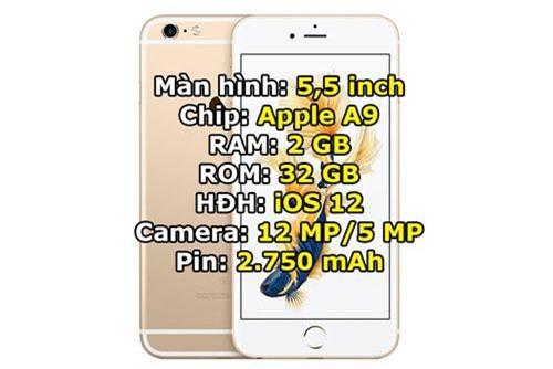 iPhone 6s Plus 32 GB giảm từ 10,99 triệu đồng xuống 9,99 triệu đồng.