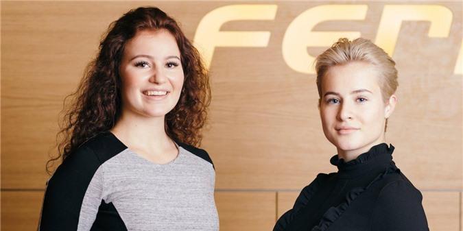2. Alexandra Andresen (trái) - 22 tuổi, tổng tài sản 1,4 tỷ USD. Ảnh: Frédéric Boudin/Ferd.