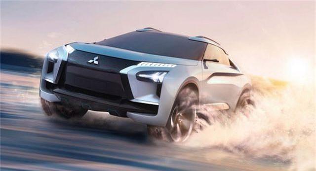 Chiếc Mitsubishi E Evolution Concept.