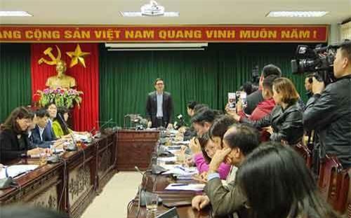 Hình ảnh tại buổi họp báo (Ảnh: Trường Sơn/VTV24)