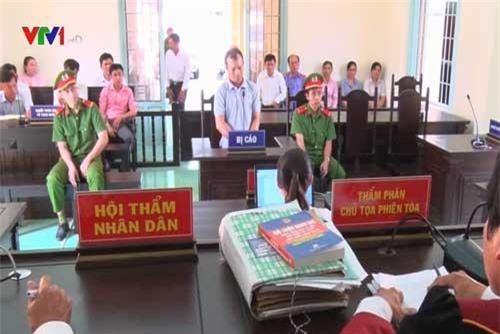 Bị cáo Võ Minh Dũng tại phiên tòa.