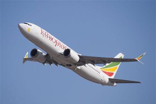 Boeing 737 Max 8 của hãng hàng không Ethiopian Airlines.