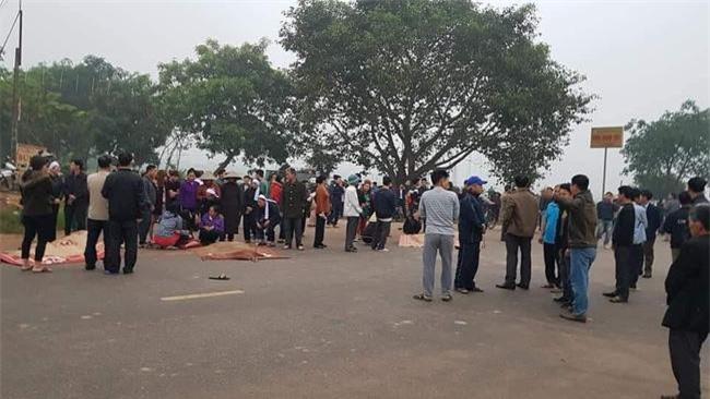 Hiện trường tang thương vụ TNGT khiến 7 người thiệt mạng ở Vĩnh Phúc.