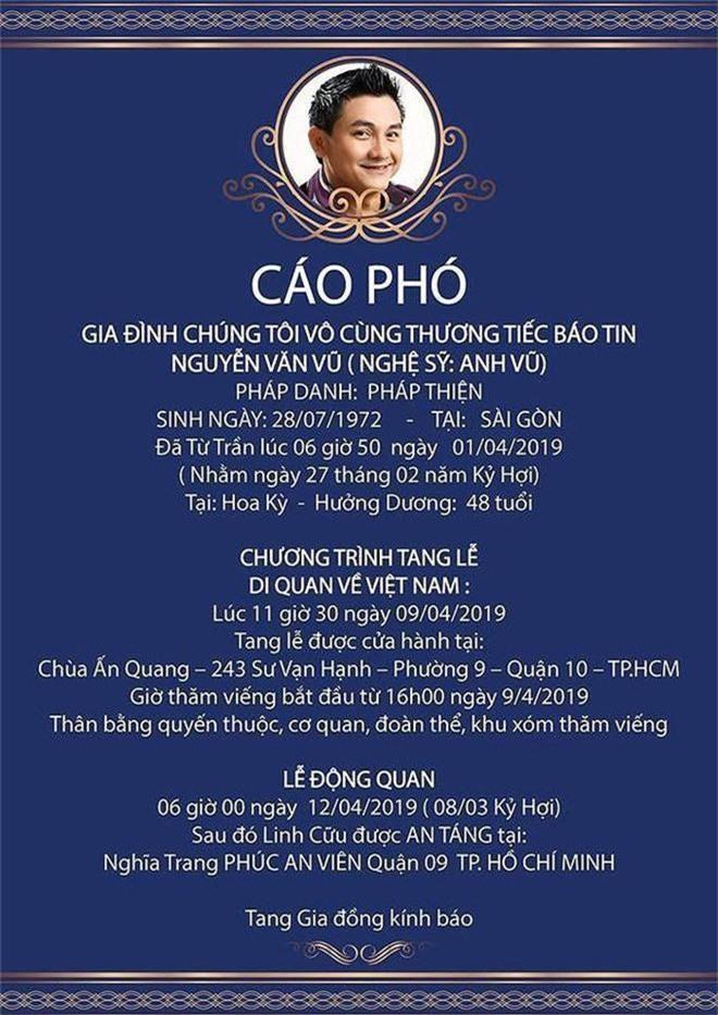 Ốc Thanh Vân gửi lời tiễn biệt đầy xúc động khi không thể về kịp viếng thăm Anh Vũ lần cuối - Ảnh 2.