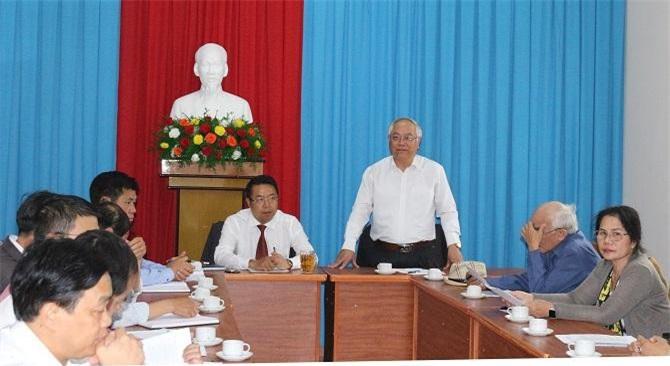 Ông Đinh Minh Quý phát biểu tại buổi làm việc (Ảnh: VH)