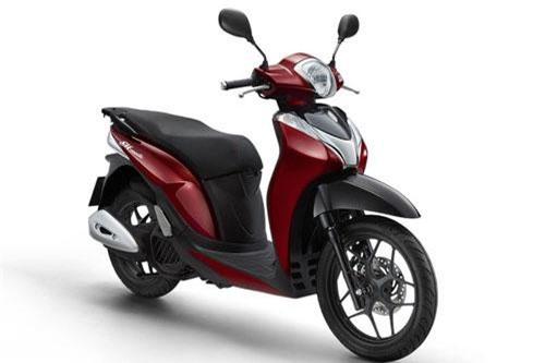 Honda SH Mode 2019 màu đỏ đen.