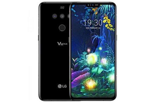LG V50 ThinQ 5G sử dụng khung viền kim loại, 2 bề mặt được làm từ chất liệu kính cường lực Corning Gorilla Glass 5. Máy có kích thước 159,2x76,1x8,3 mm, cân nặng 183 g. Đúng như tên gọi, model này hỗ trợ kết nối mạng 5G.