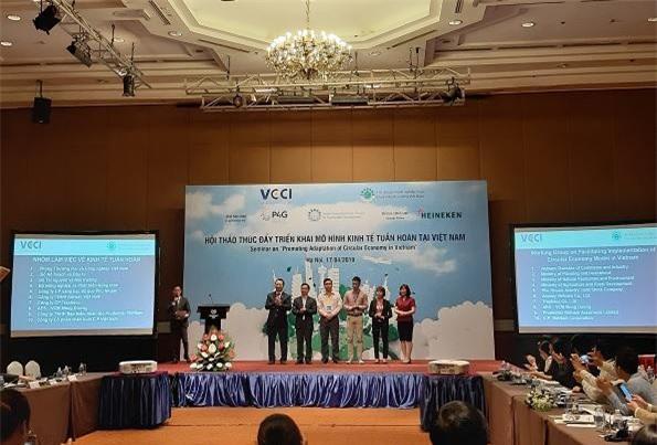 Lễ ra mắt Nhóm làm việc về Hỗ trợ triển khai mô hình kinh tế tuần hoàn tại Việt Nam