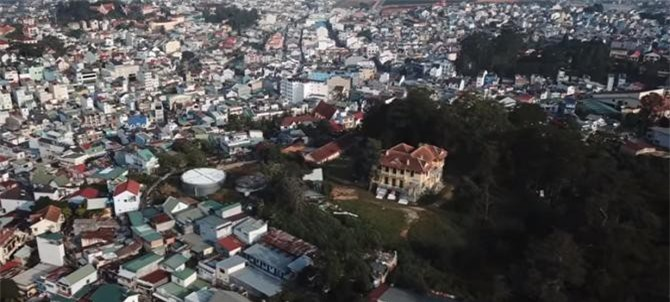 Dinh tỉnh trưởng nằm trên đồi Dinh và vùng phụ cận xung quanh (Ảnh: TL)