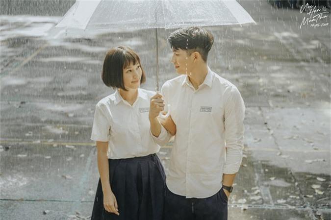 Quốc Anh và Hoàng Oanh đóng cặp lãng mạn trong phim.