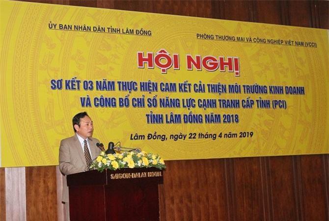 Ông Nguyễn Văn Yên, Phó Chủ tịch UBND tỉnh Lâm Đồng phát biểu khai mạc hội nghị (Ảnh: VH)