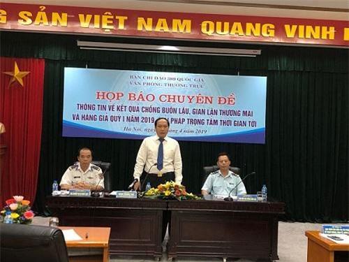 Ông Đàm Thanh Thế phát biểu tại cuộc họp báo. (Ảnh: TCHQ)