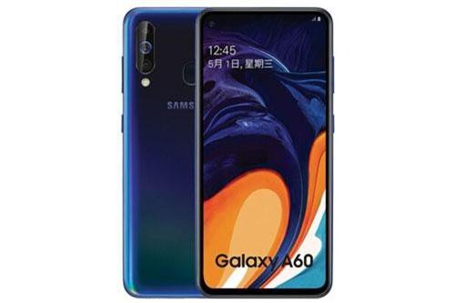 Samsung Galaxy A60 sở hữu thiết kế với khung viền bằng kim loại, 2 bề mặt làm từ chất liệu nhựa giả kính. Kích thước và trọng lượng của máy chưa được hé lộ.