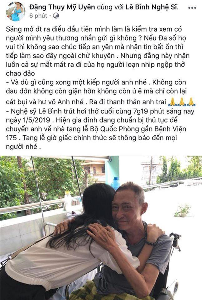 Con gái đau xót, bạn bè, đồng nghiệp bàng hoàng trước sự ra đi của nghệ sĩ Lê Bình - Ảnh 4.