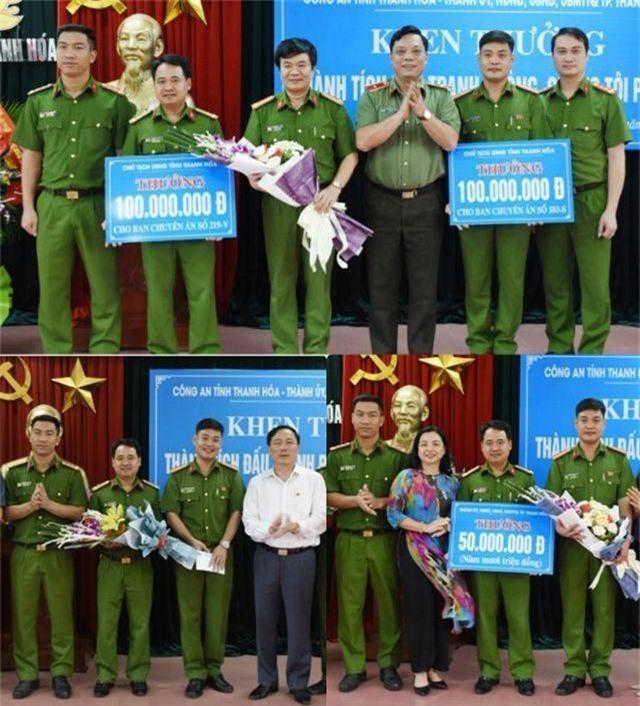 Công an TP Thanh Hóa nhận thưởng 320 triệu đồng vì thành tích phá nhiều chuyên án phức tạp - 3