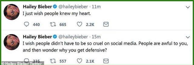 Vợ Justin Bieber sợ hãi trước sự độc ác trên mạng xã hội - 2