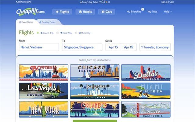 Trang săn vé máy bay đi châu Âu giá rẻ. (ảnh chụp màn hình)