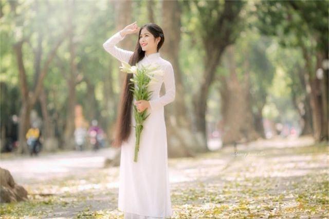 Ngẩn ngơ trước vẻ xinh đẹp của nữ sinh Văn hóa sở hữu mái tóc dài 1m35 - 6