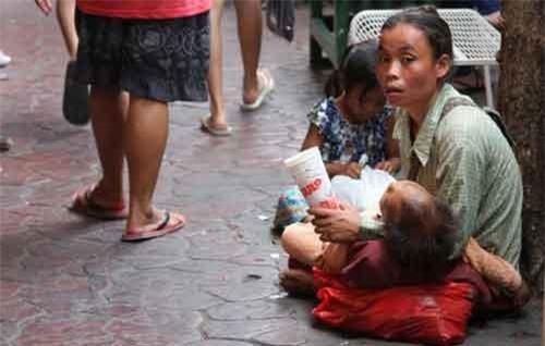 Người ăn xin ở Thái Lan sẽ phải đối mặt với mức phạt nặng. (Ảnh minh họa: Chiangrai Times)