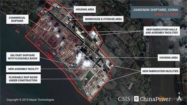 Ảnh vệ tinh hé lộ tàu sân bay lớn nhất của Trung Quốc - 2