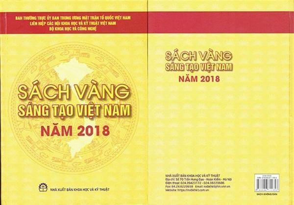 Bìa Sách vàng Sáng tạo Việt Nam năm 2019.