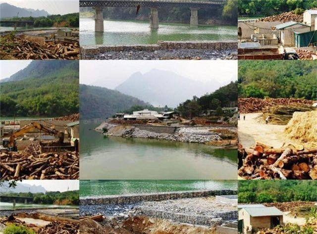 Vụ đổ hàng nghìn khối đá lấn sông: Tháo dỡ toàn bộ công trình lấn chiếm - 1