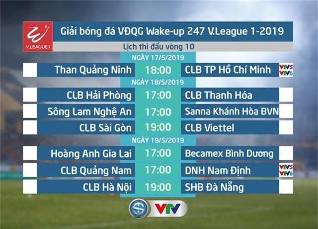 Lịch thi đấu và trực tiếp vòng 10 Wake-up 247 V.League 1-2019: Than Quảng Ninh - CLB TP Hồ Chí Minh, CLB Quảng Nam - DNH Nam Định - Ảnh 1.