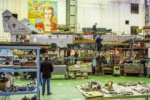 Tiêm kích đánh chặn siêu thanh MiG-31 đang được đại tu, sửa chữa lớn