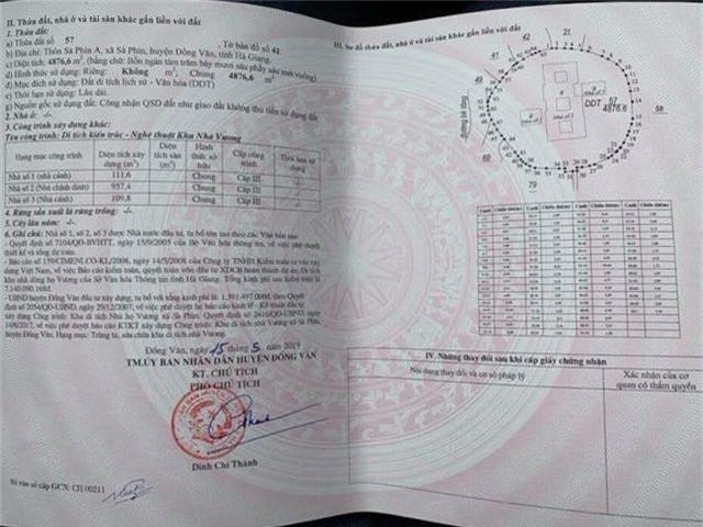 Huyện Đồng Văn trả lại sổ đỏ dinh thự Vua Mèo cho gia tộc họ Vương - 2