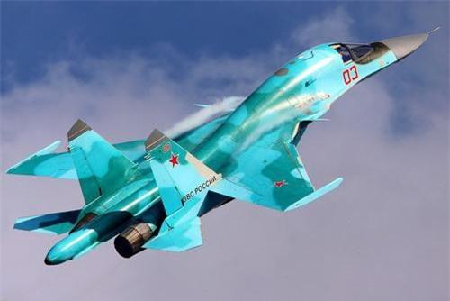 Máy bay ném bom tiền tuyến Su-34 Fullback của Không quân Nga