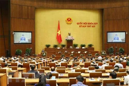 Quang cảnh phiên họp Quốc hội. (Ảnh: Doãn Tấn/TTXVN)