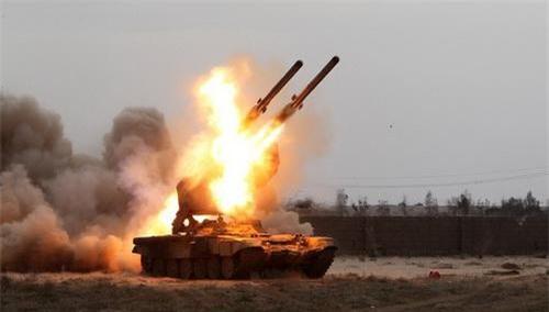 Hệ thống pháo phản lực nhiệt áp TOS-1A Buratino khai hỏa