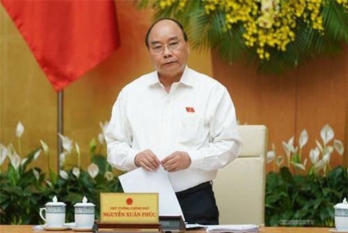 Thủ tướng Nguyễn Xuân Phúc phát biểu tại phiên họp. (Ảnh: VGP)