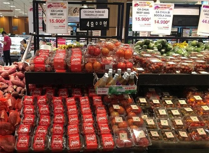 Nông sản LangBiang là một trong những đơn vị của Lâm Đồng tiên phong trong việc đưa sản phẩm có ưu thế của Lâm Đồng vào siêu thị AEON (Ảnh: VH)