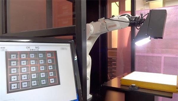 Hình ảnh Robot AI dùng trong kiểm phẩm.