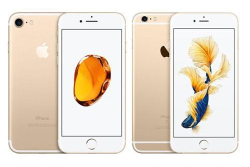 iPhone 7 và iPhone 6s Plus (phải).