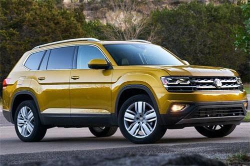 9. Volkswagen Atlas 2019 (giá khởi điểm: 30.895 USD).
