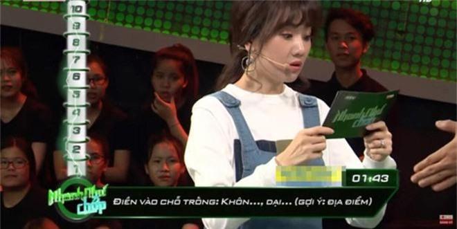 Hari Won tiếp tục lộ khuyết điểm kiến thức cơ bản khi dẫn chương trình Nhanh như chớp - Ảnh 3.
