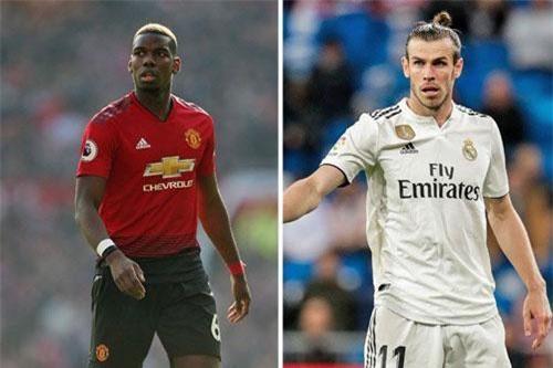 Real sẵn sàng dùng Bale (phải) như 1 phần của bản hợp đồng để có Pogba.