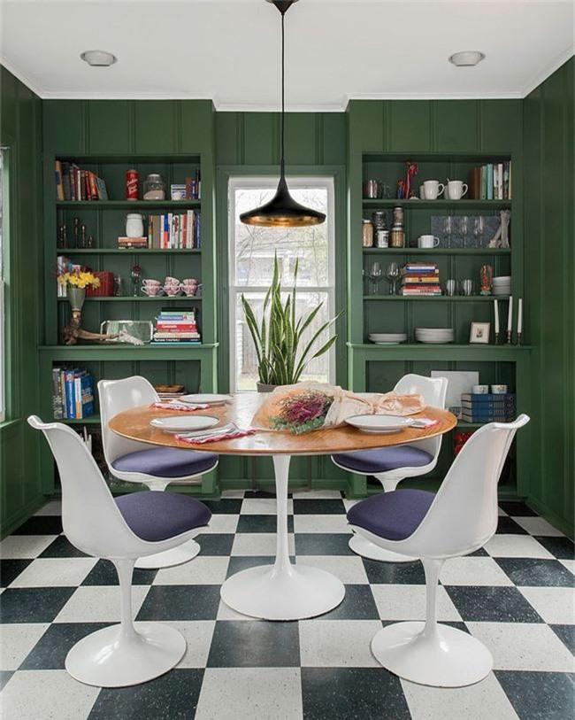 Xu hướng thiết kế phòng ăn màu xanh lá cây phong cách tươi mới lại dễ chịu, hợp thời - Ảnh 1.