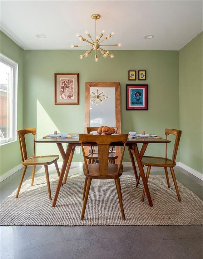 Xu hướng thiết kế phòng ăn màu xanh lá cây phong cách tươi mới lại dễ chịu, hợp thời - Ảnh 14.