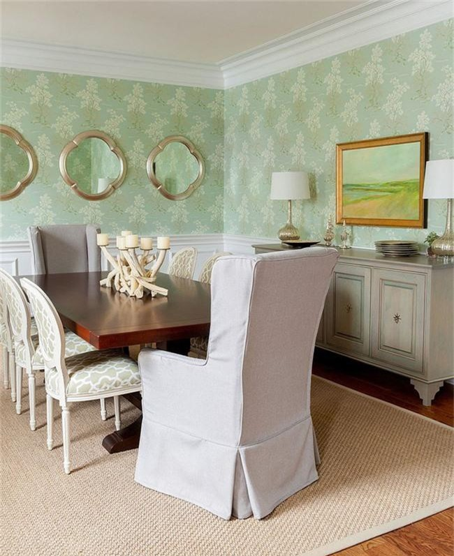 Xu hướng thiết kế phòng ăn màu xanh lá cây phong cách tươi mới lại dễ chịu, hợp thời - Ảnh 7.