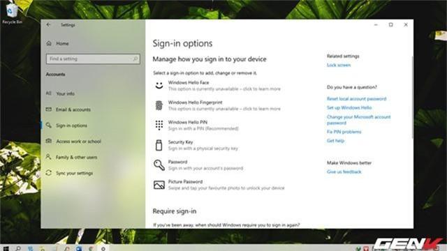Cách khôi phục lại mật khẩu đăng nhập ở trên Windows 10 May 2019 - Ảnh 1.