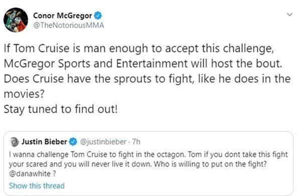 Justin Bieber thách đấu với Tom Cruise? - Ảnh 2.