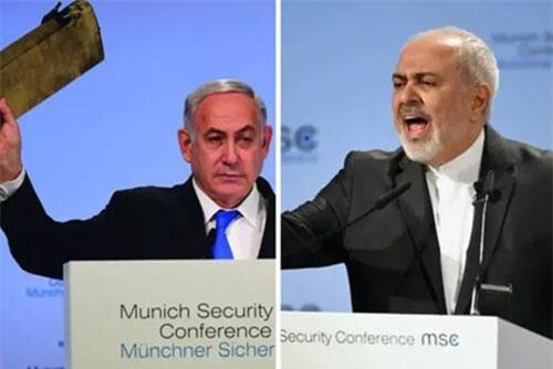 Thủ tướng Israel Benjamin Netanyahu (trái) và Bộ trưởng Bộ Ngoại giao Iran Mohammad Javad Zarif (phải). Ảnh: GPO/Reuters.