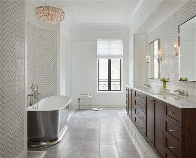 Nâng tầm vẻ đẹp của căn phòng tắm gia đình với thiết kế đèn chùm rực rỡ - Ảnh 17.