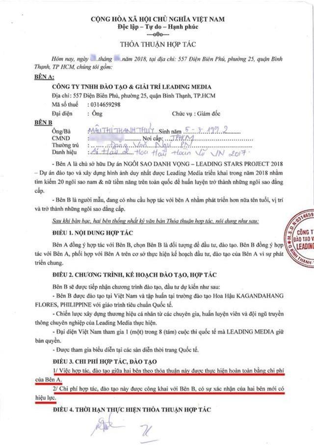 """""""Trùm Hoa hậu"""" Phúc Nguyễn tung hợp đồng chứng minh Mâu Thuỷ bịa chuyện, tiết lộ sốc về Phương Khánh - 4"""