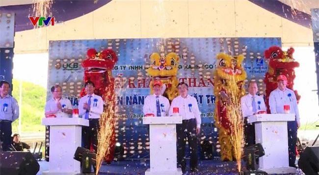 Buổi lễ khánh thành Nhà máy điện mặt trời Eco Seido Tuy Phong.sáng 16/6 tại Bình Thuận.