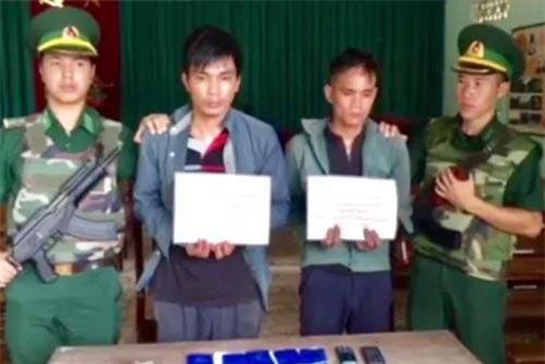 Hai đối tượng vượt biên buôn ma túy đã bị bắt giữ.